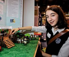 St. Mary's Academy's Emma Reznichek focused on organics.