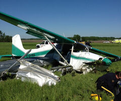 A single-engine float plane crashed near Lac du Bonnet shortly after take off.