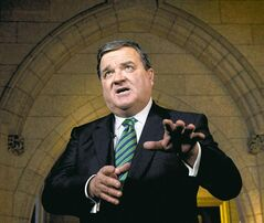 Newly resigned Federal Finance Minister Jim Flaherty