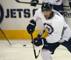 The Winnipeg Jets' Evander Kane