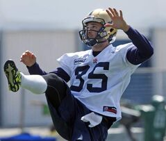 Eric Wilbur has been cut from the Blue Bombers.