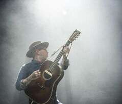 Dallas Green of City And Colour performs with his band at the MTS Centre Saturday night.