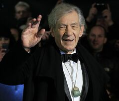 FILE - In this Wednesday, Dec. 12, 2012 file photo, actor Ian McKellen arrives at the UK premiere of