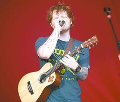 Ed Sheeran, third and final opening act before Taylor Swift at Investors Group Field, Saturday, June 22, 2013. (TREVOR HAGAN/WINNIPEG FREE PRESS)
