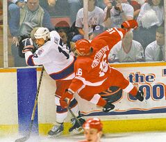 Jets captain Kris King made sure Vladimir Konstantinov remembered Game 4 a few nights earlier.
