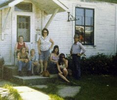 Amy and Gordon Richardson's family, seen in 1976, benefited from the program, which was an experiment by Manitoba's NDP Schreyer government  from 1974 to1978. It provided people in the town with a  guaranteed income as an income supplement that was not connected to welfare. Income of low-wage earners was topped up to a minimum standard. The experiment was halted after four years without any followup study .