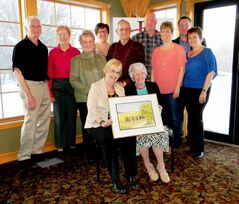 These Macdonald residents were honoured for their volunteer contributions at last year's ceremony. Back row (left) Larry Manson, Rita Lavoie, Patsy Andrews-Vert, Jon Magarrell, and Brad Erb. Middle row (from left): Joyce Dusik, Rudy Dusik, Jen Magarrell, and Lynne Elke. Seated (from left): Janis McMorran and Isobel Cuddy.