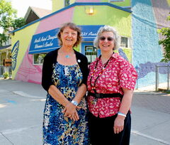 Soroptimist International of Winnipeg president Kay Stewart (left) and  North Point Douglas Women's Centre executive director Elaine Bishop.