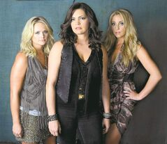 Pistol Annies, made up of Miranda Lambert, left, Angaleena Presley, centre, and Ashley Monroe.