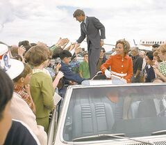 Ethel and Robert Kennedy on the campaign trail in 1968.
