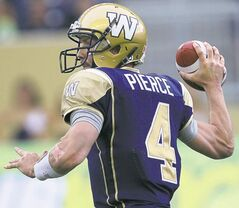 Winnipeg Blue Bombers quarterback Buck Pierce