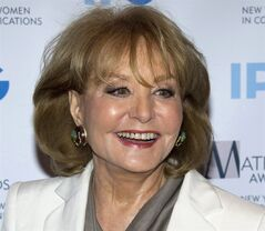 FILE - In this April 23, 2012 file photo, veteran ABC newswoman Barbara Walters arrives to the Matrix Awards in New York. The veteran ABC News anchor is set to announce Monday morning, May 13, 2013 on