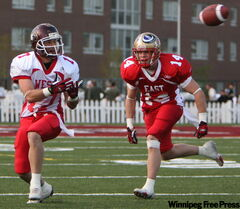 Simon Blaszczak (#17) takes a  pass during the East-West Bowl last May.