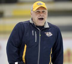 Barry Trotz is in his 15th season as head coach of the Predators.