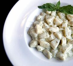 Gnocchi with creamy pesto