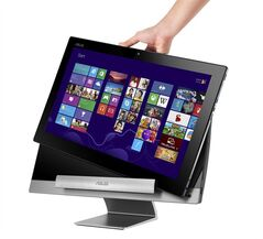 The largest tablet you've ever seen: the new Asus The Transformer AiO, which has a 18.4-inch screen, is shown in a handout photo illustration. THE CANADIAN PRESS/HO, ASUS