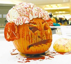 Doug's Exploding Bloody Brains  Pumpkin from 2009.