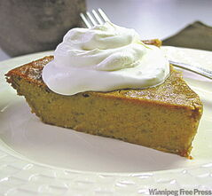 Impossible pumpkin pie is nicely spiced and not  too sweet, say Winnipeg Free Press taste-testers.