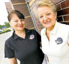 Carol Eliasson (left) and Mira Hummerston of Dreams Take Flight love making special memories for disadvantaged young people.