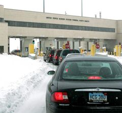 The border crossing at Emerson: A proposed fee to enter the U.S. has even American chambers of commerce worried.