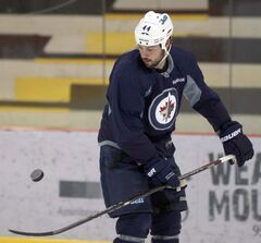 Zach Bogosian was a welcome sight to fans as he skated at the MTS Iceplex this morning while wearing his Jets sweater.