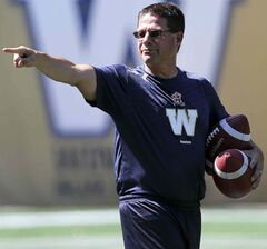Marcel Bellefeuille, who joined the Winnipeg Blue Bombers in August as a consultant, is now the club's offensive coordinator.