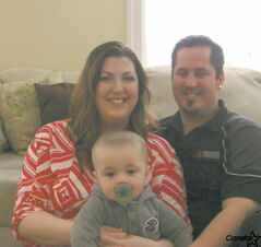 Jennifer and Jeremy Winton, founders of Big Hearts for Tiny Feet, with their son Zeke.