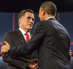 Mitt Romney (left) and Barack Obama