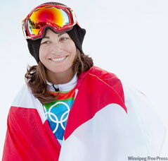 Maelle Ricker won gold in  the women's snowboard  cross.