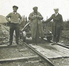 Italian railway workers in the 1920s in Canada.