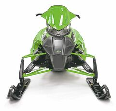 Nope, it's not a grasshopper, above and at the top of page, this is the 2013 Arctic Cat Sno-Pro 600, built especially for racing.