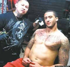 Nes Andrion and his best customer, 49ers QB Colin Kaepernick.