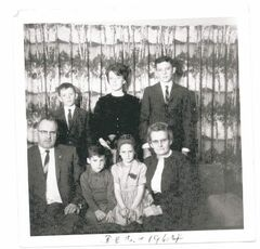 Jeanette Murdoch and family in 1964.