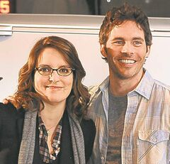 James Marsden and Tina Fey