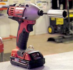The Milwaukee impact driver has enough grunt to remove even stubborn bolts.
