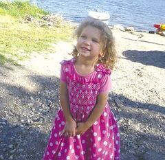 Kezia Waldner, 3, was playing with friends when she drowned in a small pond near Kane.