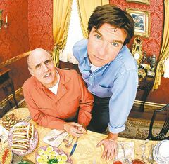 ARRESTED DEVELOPMENT:  Jason Bateman as Michael Bluth and Jeffrey Tambor as George Bluth, Sr. in ARRESTED DEVELOPMENT premiering Sunday, November 2 (9:30-10:00 PM ET/PT) on FOX.  �����2003 FOX BROADCASTING CO.  Cr:  F. Scott Schafer/FOX.