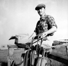 The Fly-In Golf Club's first president, Ed Regehr, in 1954.