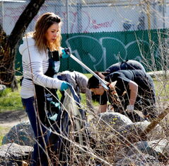 Community cleanups are a great way for neighbours to work together to beautify their community.