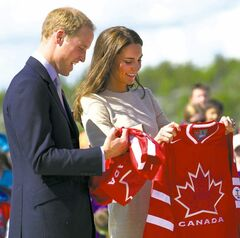 Royalty and hockey jerseys -- the perfect Canada Day pairing.