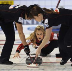 Jennifer Jones hasn't let an entire winter away from curling slow her down.