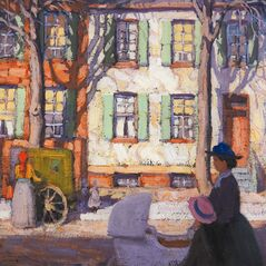 Group of Seven member, Lawren Harris's' Hurdy Gurdy, a depiction of Toronto's Ward district is shown in this handout image. The 2012 Heffel fall auction of Canadian post-war and contemporary art held at Toronto's Park Hyatt Hotel on Thursday night reached total sales of $11.5 million. THE CANADIAN PRESS/HO-Heffel Fine Art Auction House