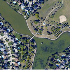 A Winnipeg neighbourhood was captured in one of ATLIS Geomatics' orthophotos.