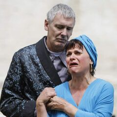Steven Ratzlaff  and Michelle Boulet in Julius Caesar.
