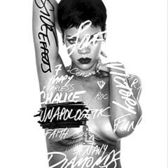 This CD cover image shows the latest release by Rihanna,