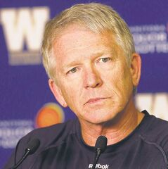 FULL CLOSE CUT CLOSECUT - Bomber Coach Tim Burke talks about recent personnel changes  this week ��� Ed Tait story  KEN GIGLIOTTI / Aug 27 2013 / WINNIPEG FREE PRESS
