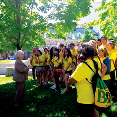 Kildonan-St. Paul MP Joy Smith welcomes Grade 11 students from Faith Academy to Ottawa on May 27. The students of the West Kildonan-based school visited the nation's capital from May 23-31.