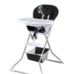 This undated image provided by the U.S. Consumer Product Safety Commission shows a Dream On Me Dinah High Chair. The high chairs are being recalled because the leg or side opening of the chair can allow a child's body to pass through and become entrapped at the neck or fall from the chair. This poses a strangulation and fall hazard to young children.(AP Photo/U.S. Consumer Product Safety Commission)