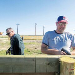 Local volunteers stepped up to help build St. Francois Xavier Community Club's outdoor rink last September.