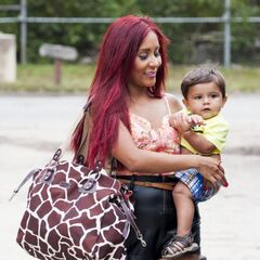 Snooki with son Lorenzo